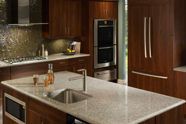 Alpina White Silestone Kitchen Countertop