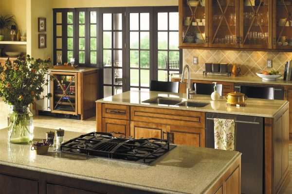 Bamboo Silestone Kitchen Countertop