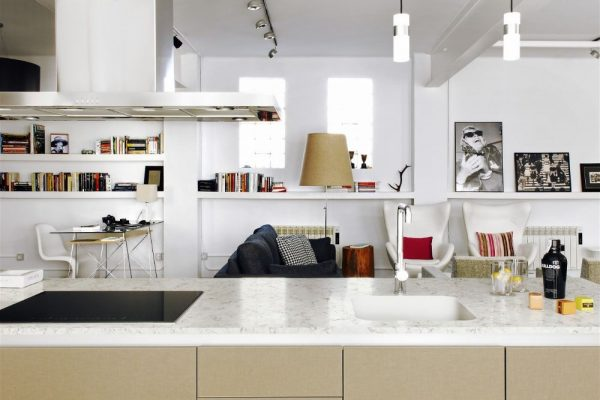 Blanco Orion Silestone Kitchen Countertop