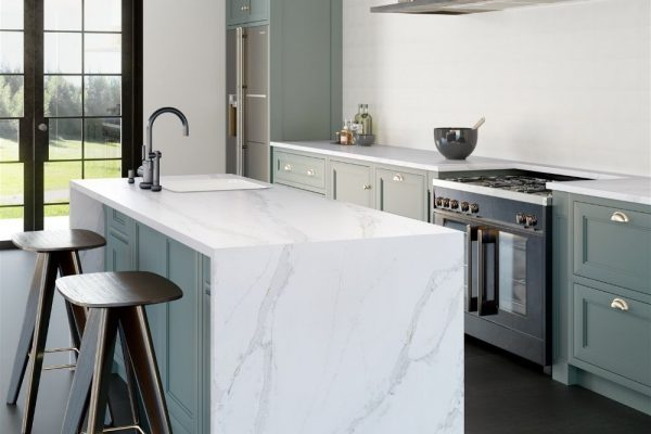 Calacatta Gold Silestone Kitchen Countertop