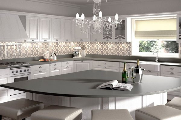 Cemento Silestone Kitchen Countertop