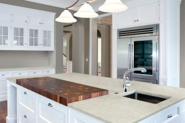 Creamstone Silestone Kitchen Countertop