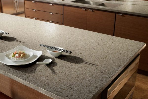 Forest Snow Silestone Kitchen Countertop