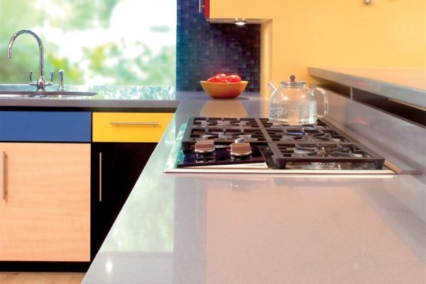 Grey Expo Silestone Kitchen Countertop