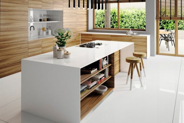 Iconic White Silestone Kitchen Countertop