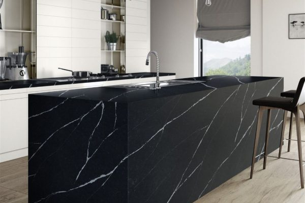 Marquina Silestone Kitchen Countertop