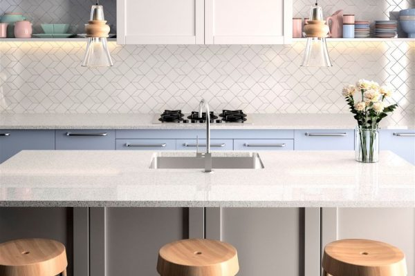 Moonstone Silestone Kitchen Countertop