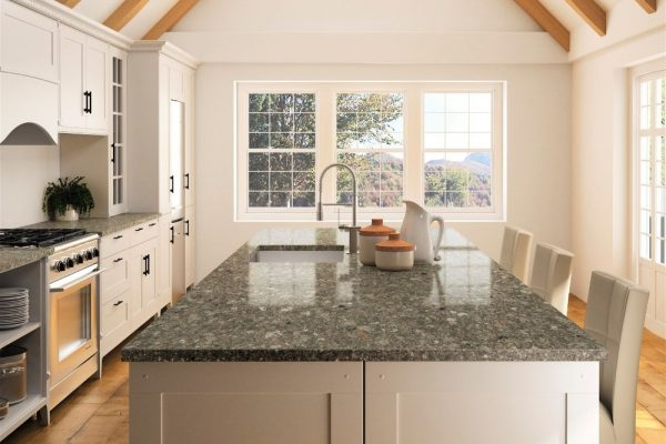 Mountain Mist Silestone Kitchen Countertop