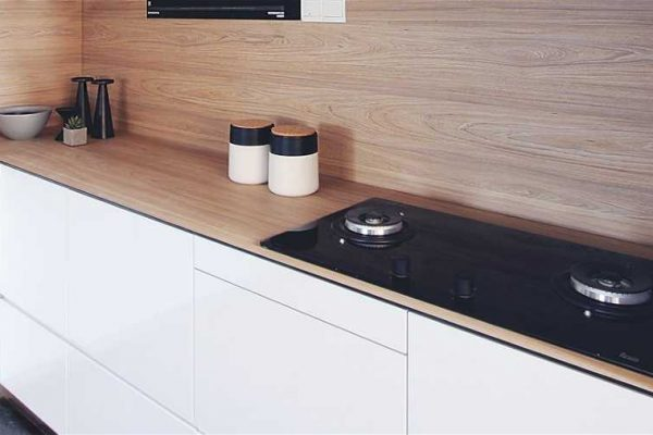 Pavia Hiskory Dendron Wood Series KompacPlus Kitchen Countertop