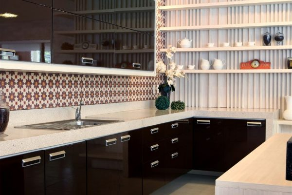 Stellar Cream Silestone Kitchen Countertop