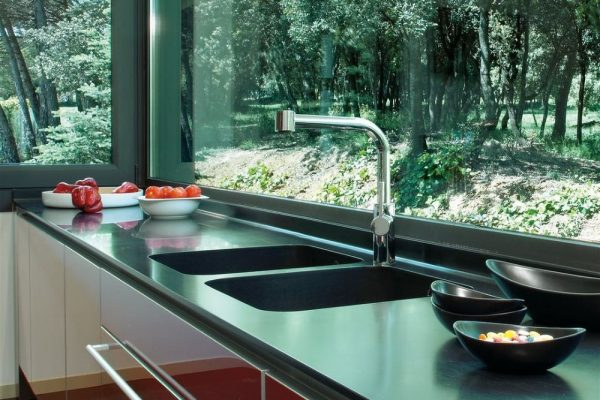 Tebas Black Silestone Kitchen Countertop