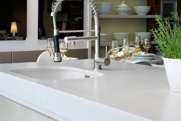 White Storm Silestone Kitchen Countertop