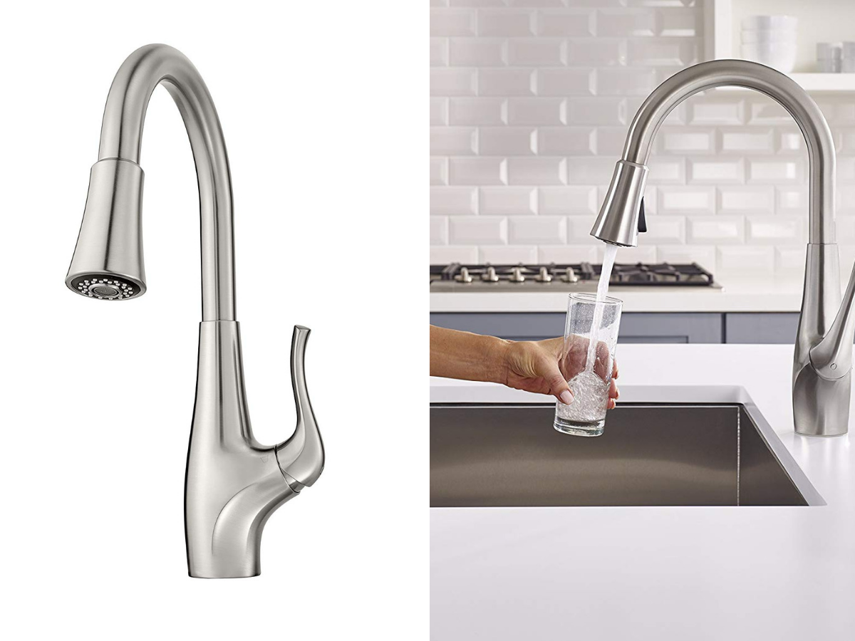 filter-built-in-faucet-modern kitchen