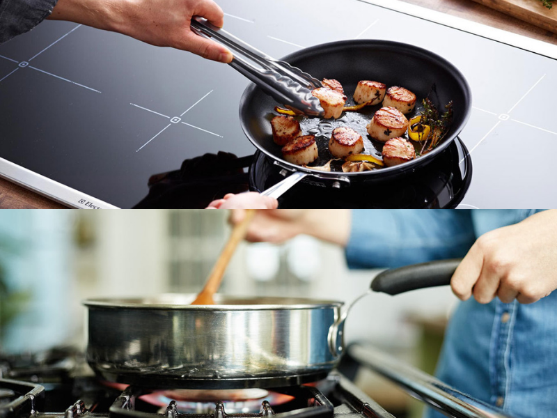 Induction & gas cooking