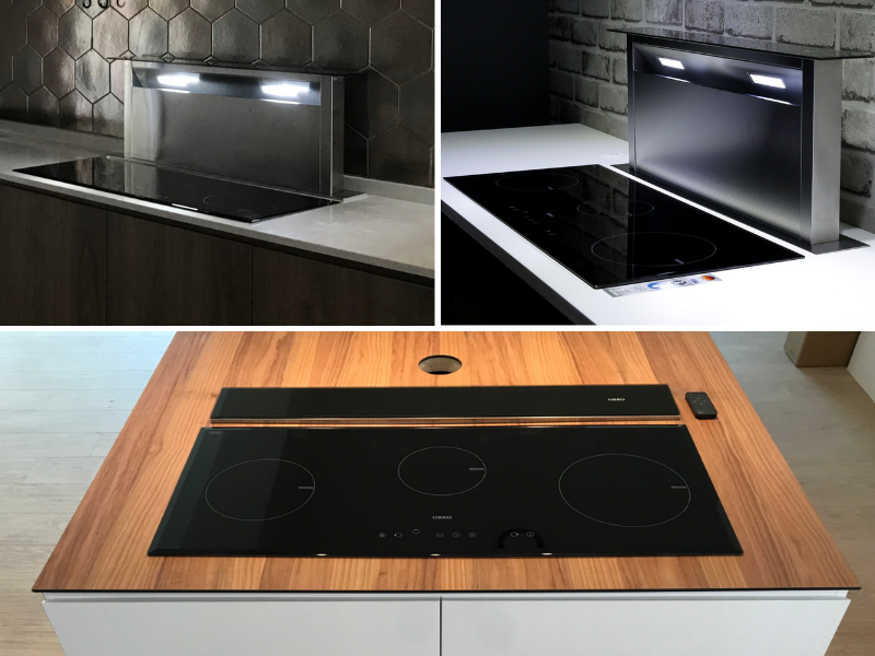 OBRO Downdraft Cooker Hood and Induction Hob-minimalist
