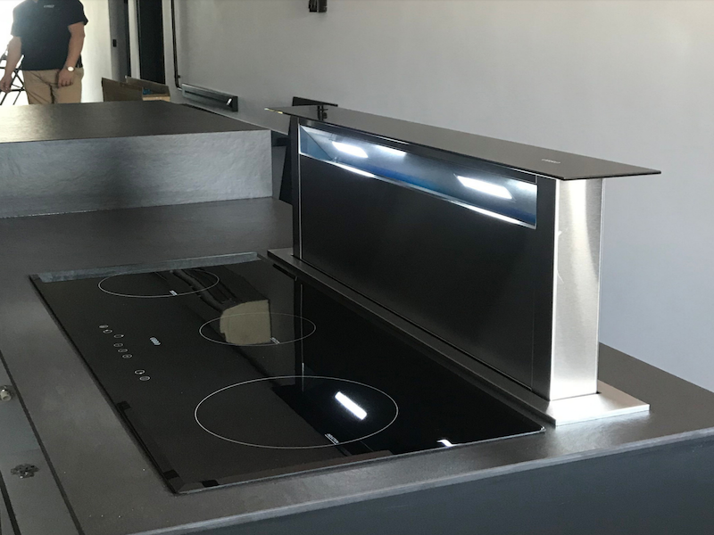 beautiful-obro Downdraft Cooker Hood and Induction Hob