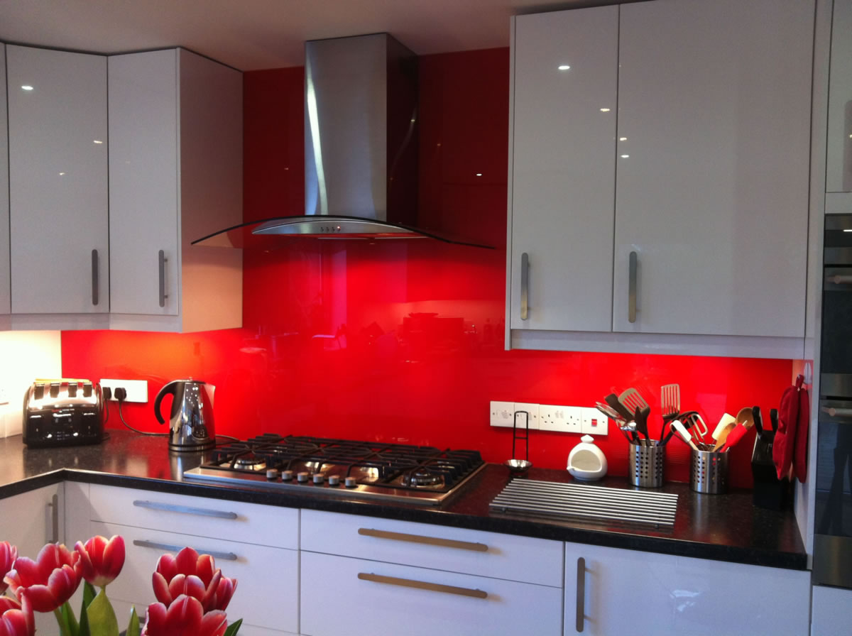 Red Wall Splashback