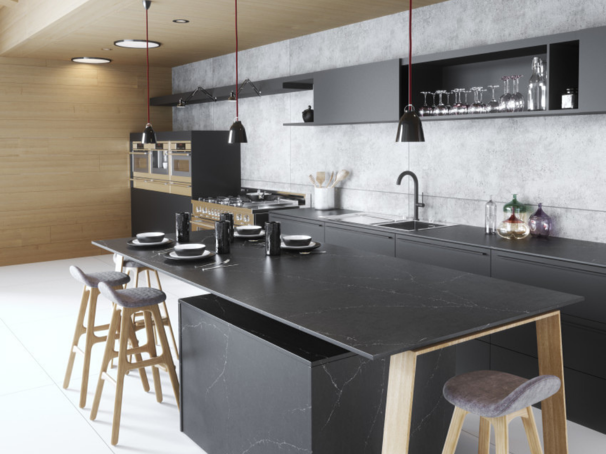 silestone all black countertop