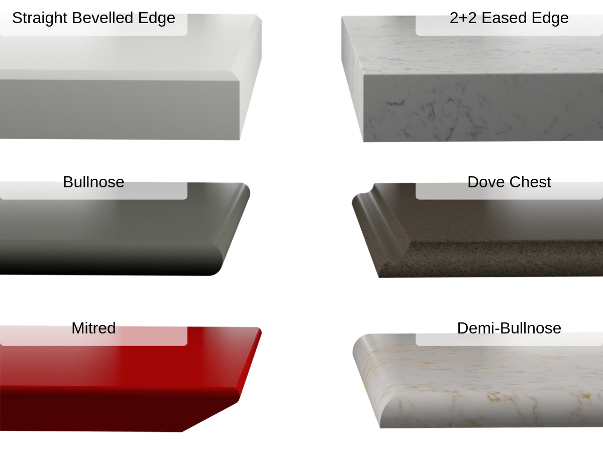 silestone countertop edges
