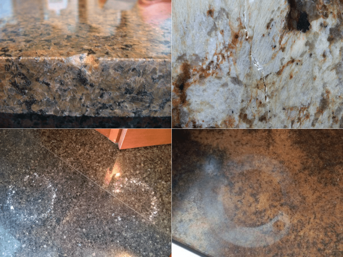 countertop replacement damage