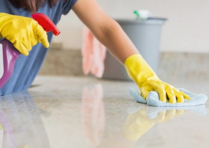 how to clean granite kitchen countertop