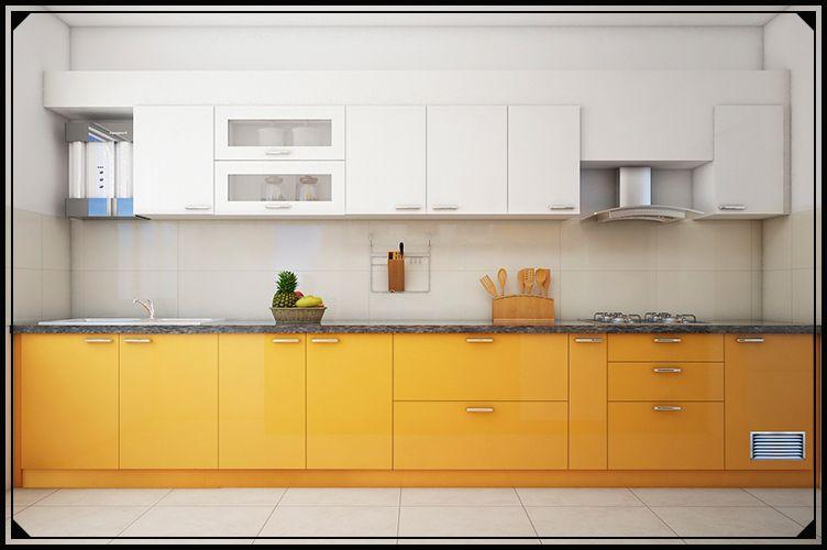 3. Straight Modular Kitchen Cabinet Design