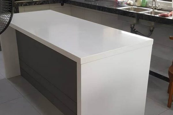 Taman Daya - Solid Surface Kitchen Top