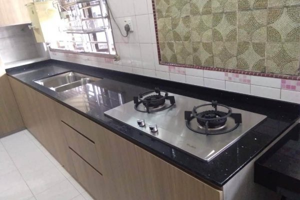 Taman Johor Jaya - Quartz Kitchen Top