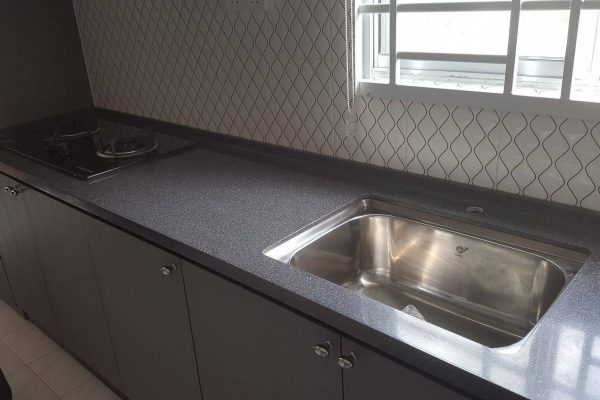 Taman Nusa Bayu - Solid Surface Kitchen Top