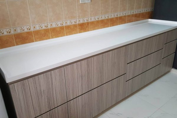Taman Setia Indah - Solid Surface Kitchen Top