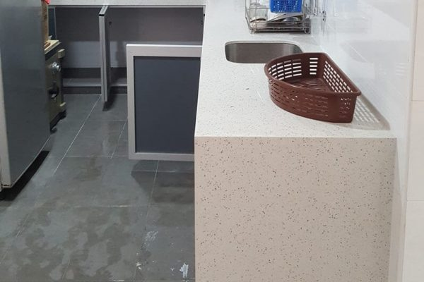 Taman Tun Aminah - Quartz Kitchen Top